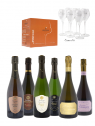 Champagne Gift Pack 05 - VF Assortment (Clos Notre-Dame 2008) w/6 Glasses