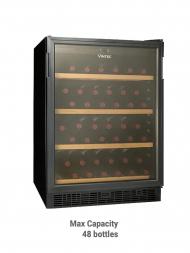 Vintec Classic VWS 048SCA-X 48bots Black Glass Door, Single Temp