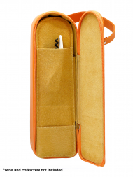 Huskies Wine Bag Single Nappa Orange