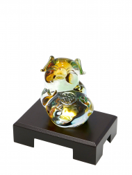 Tai Hwa Sculpture Chinese Crystal Lucky Pig